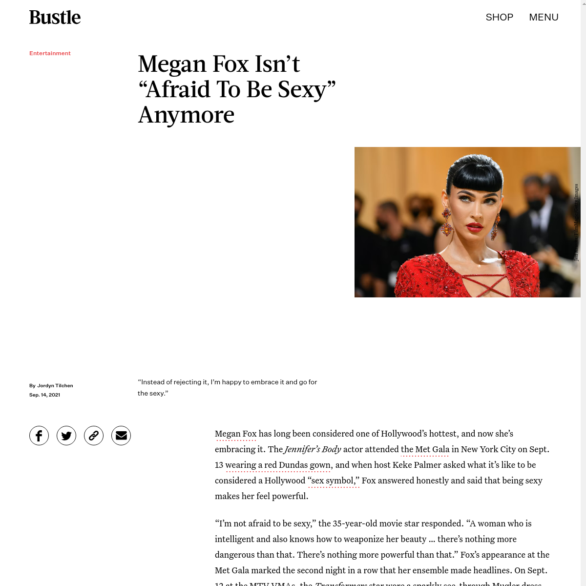 Megan Fox Met Gala
